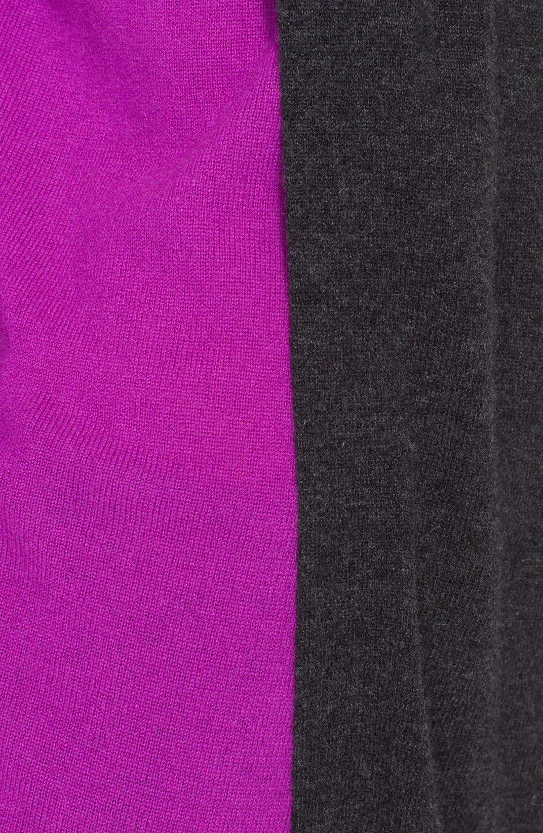 Alternate Image 3  - autumn cashmere Colorblock Overlap Cashmere Sweater