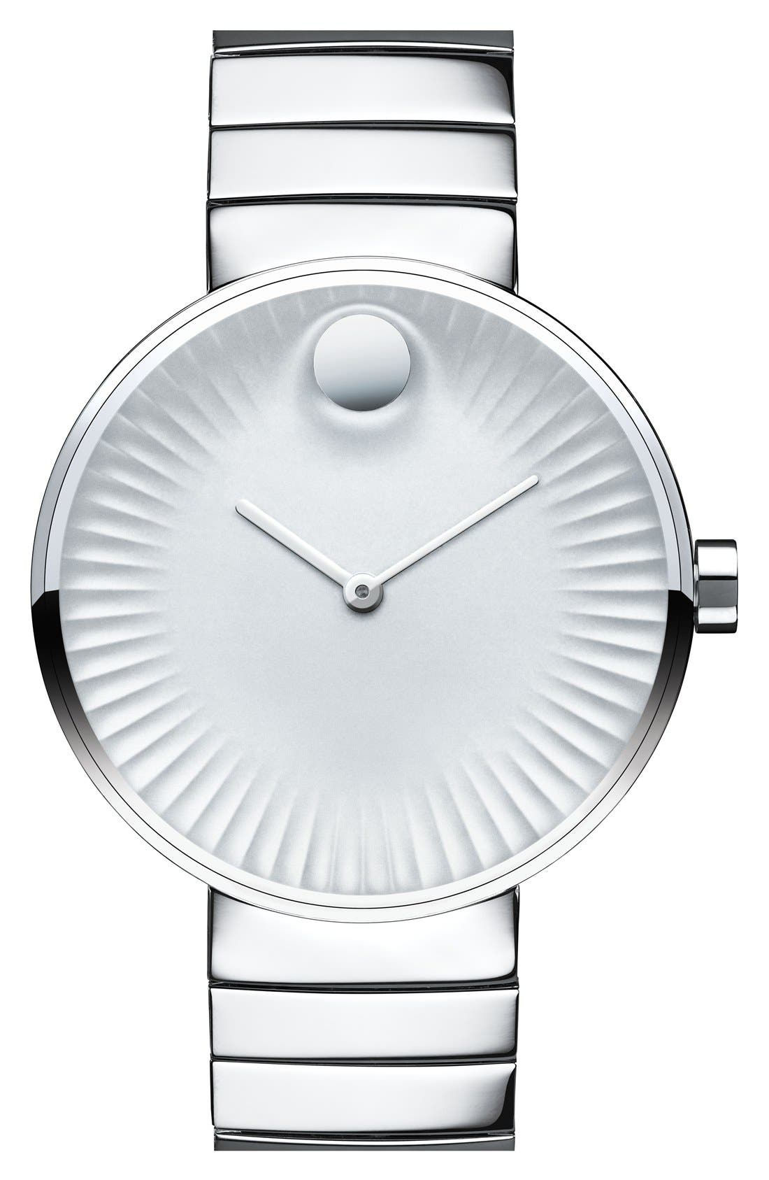 Main Image - Movado 'Edge' Bracelet Watch, 34mm