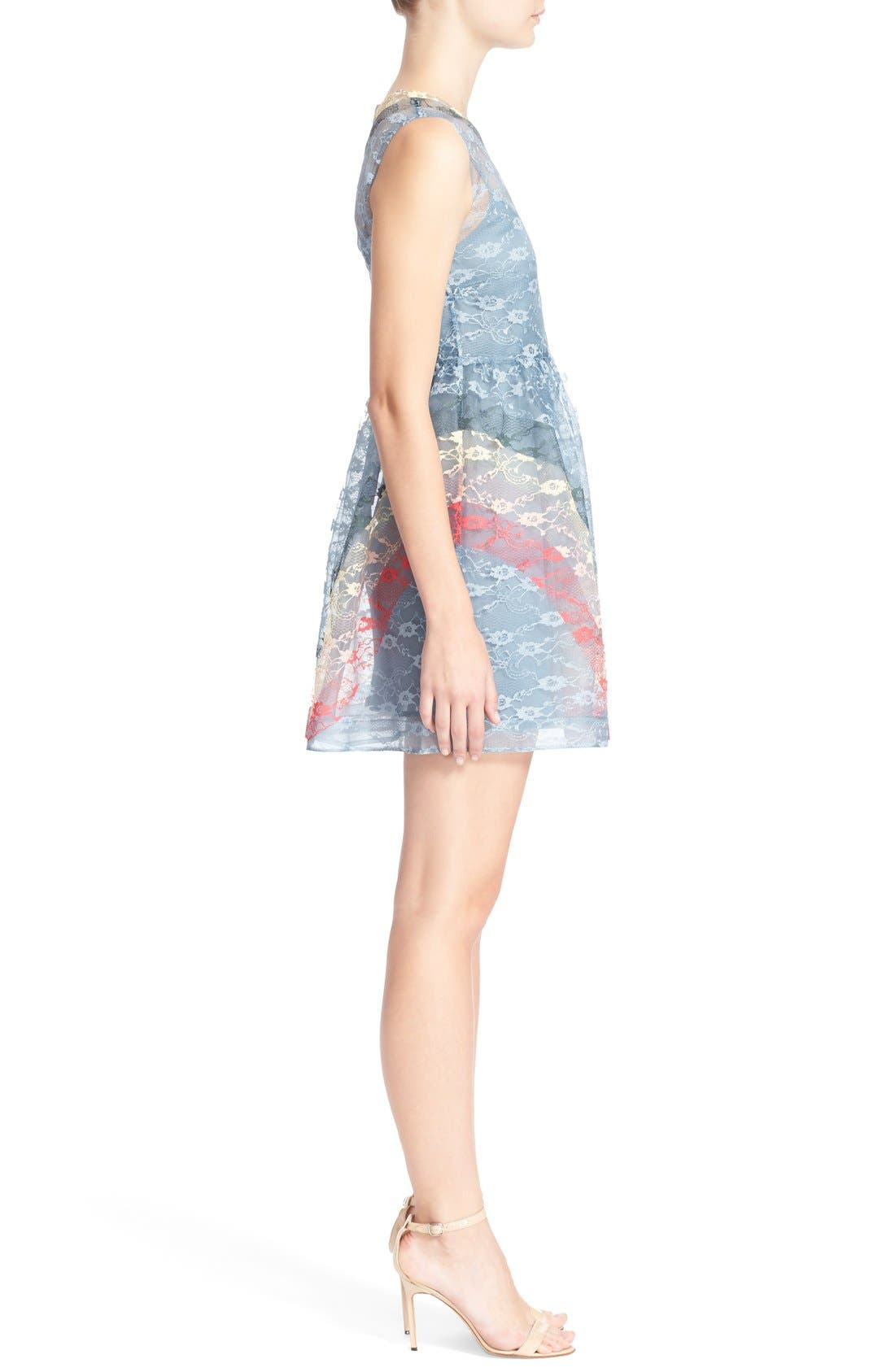 Alternate Image 3  - RED Valentino Rainbow Lace Fit & Flare Dress