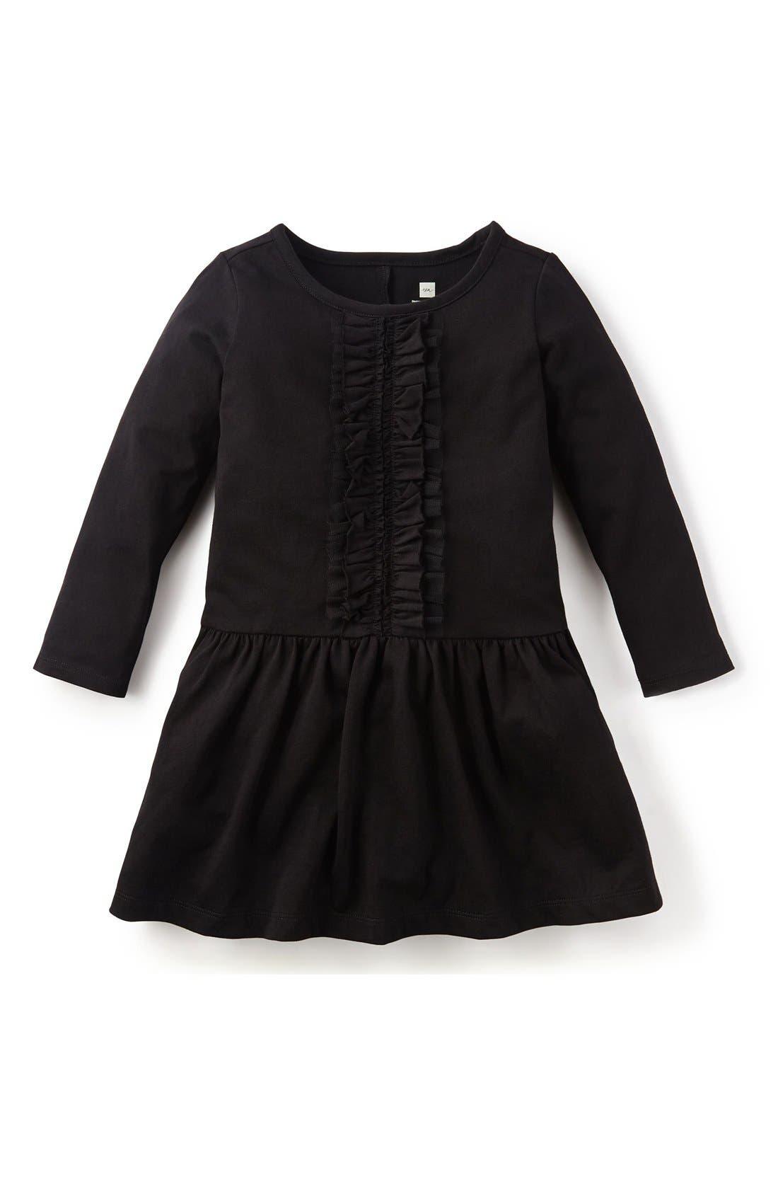 Alternate Image 1 Selected - Tea Collection Ruffle Drop Waist Dress (Toddler Girls, Little Girls & Big Girls)