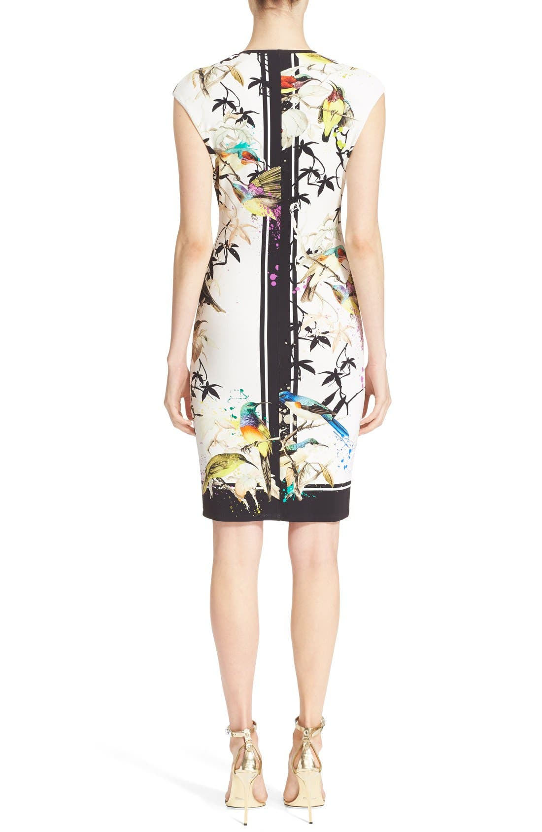 Alternate Image 2  - Roberto Cavalli Bird & Floral Print Jersey Dress