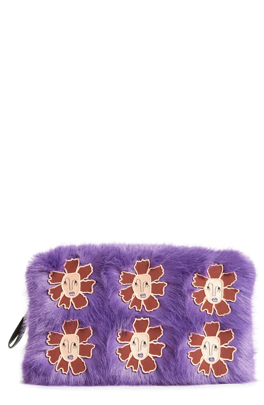 Main Image - Shrimps 'Meadow' Faux Fur Clutch
