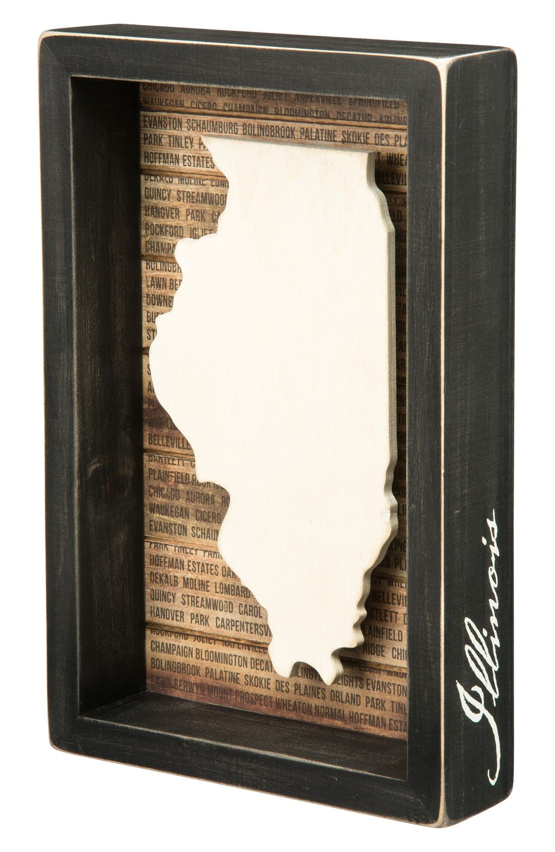 Main Image - Primitives by Kathy State Silhouette Wooden Box Sign
