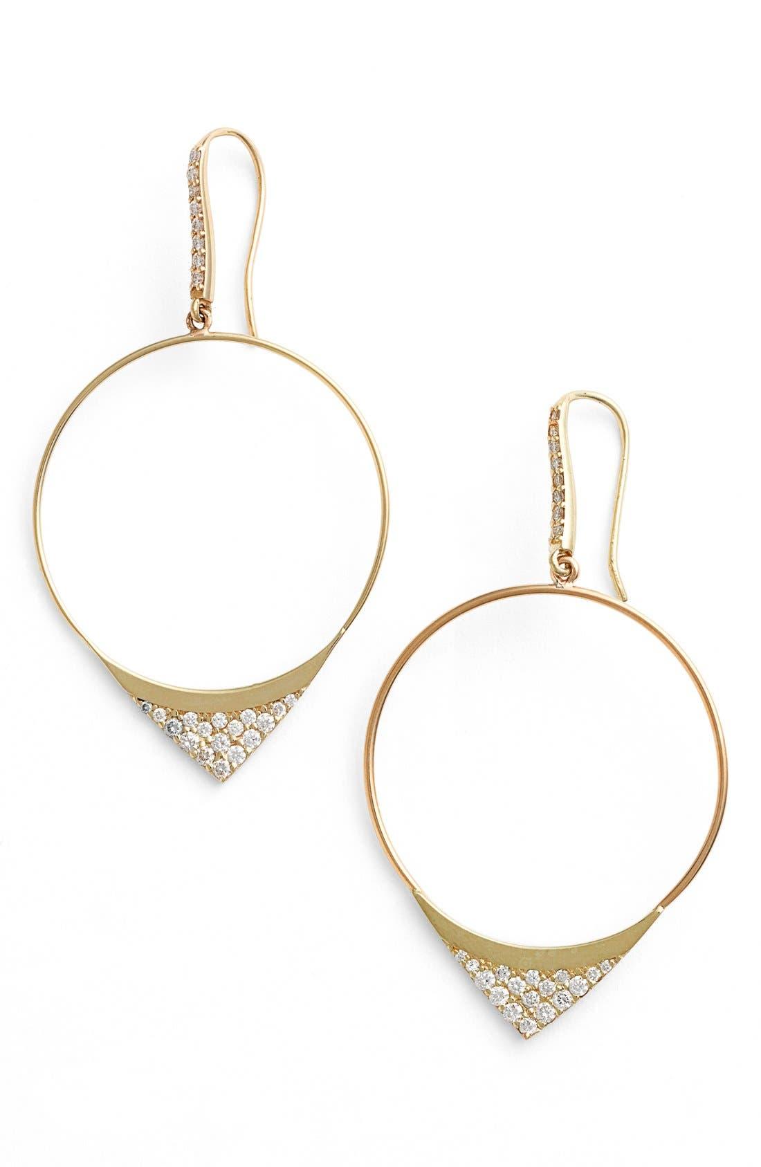 Alternate Image 1 Selected - Lana Jewelry 'Elite - Electric Flawless' Small Hoop Drop Earrings