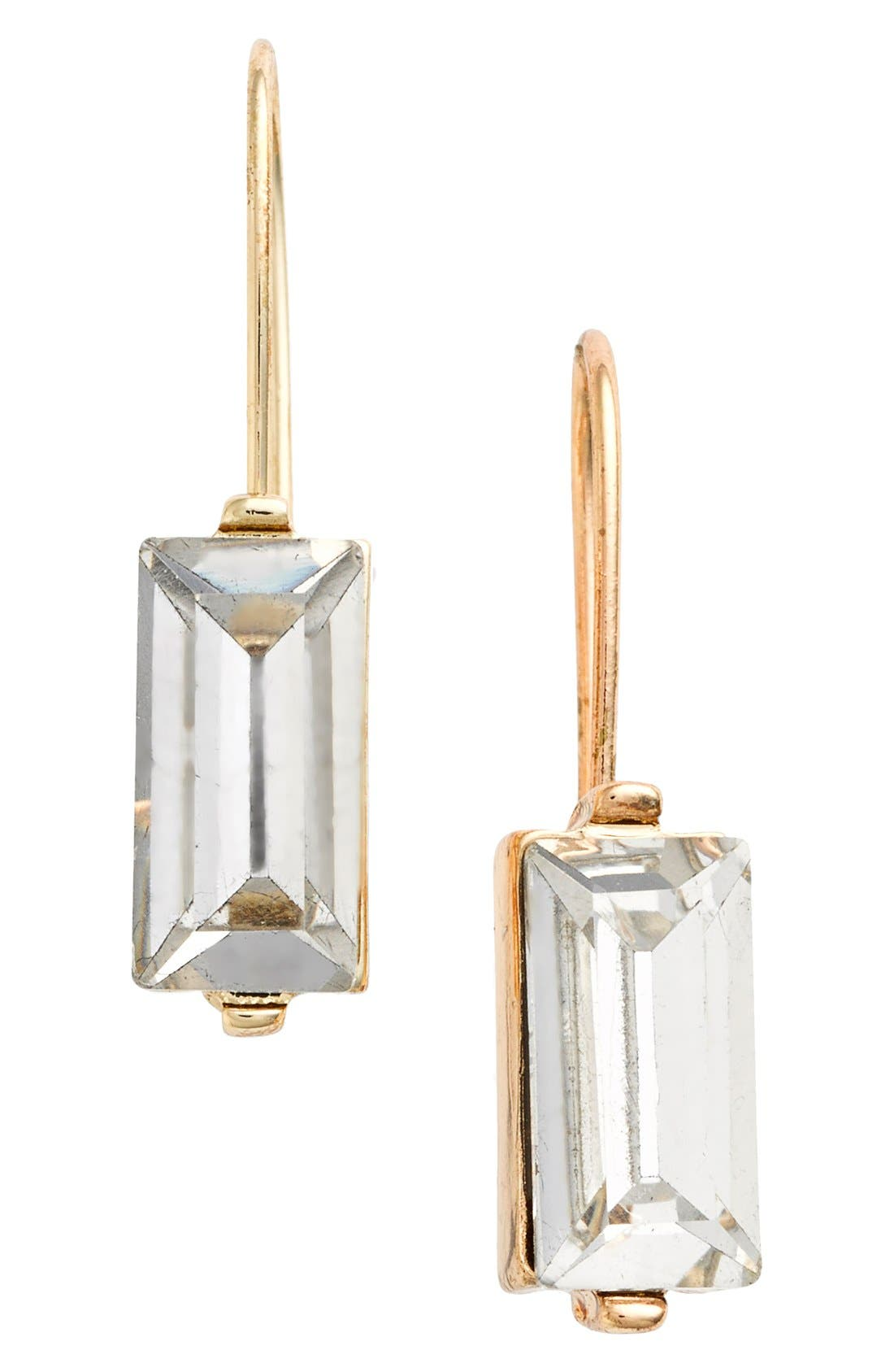 Alternate Image 1 Selected - Anne Klein Emerald Cut Drop Earrings