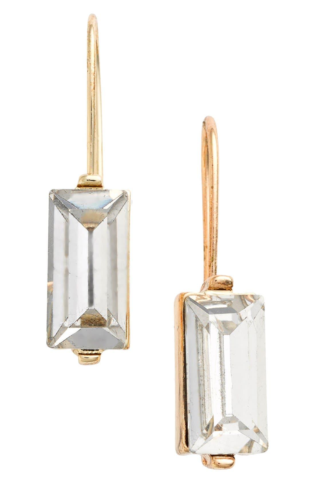 Main Image - Anne Klein Emerald Cut Drop Earrings