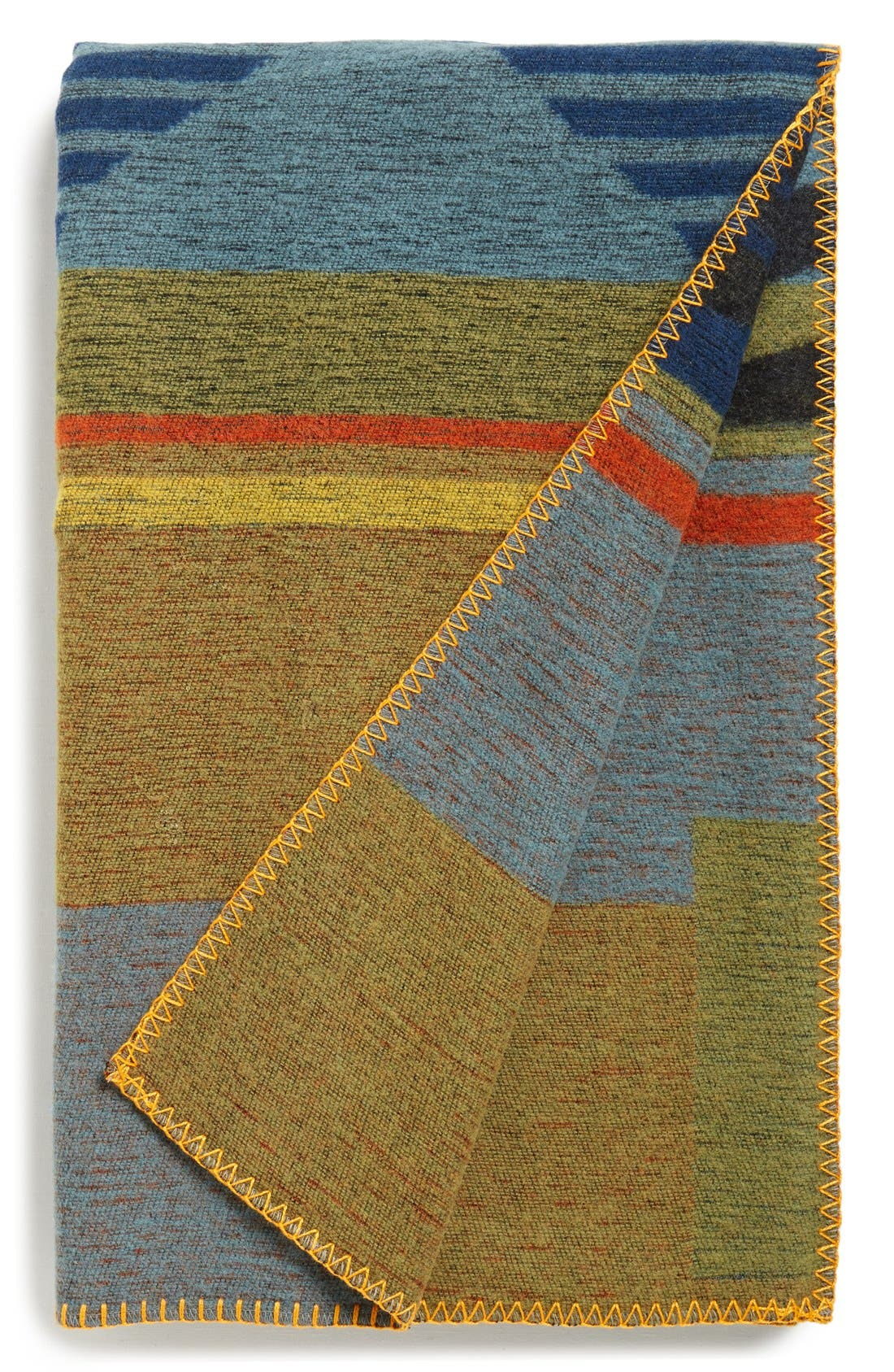 Alternate Image 1 Selected - Woolrich 'Mid-State Trail' Jacquard Wool Blend Throw