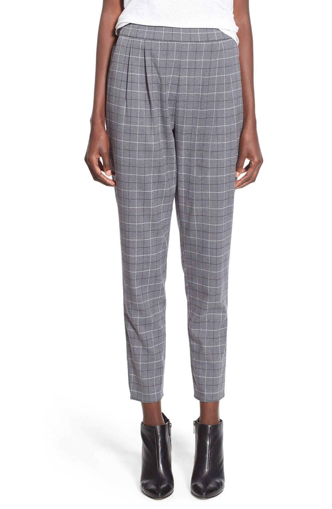 Alternate Image 1 Selected - Leith Pleat Front Glen Plaid Pants