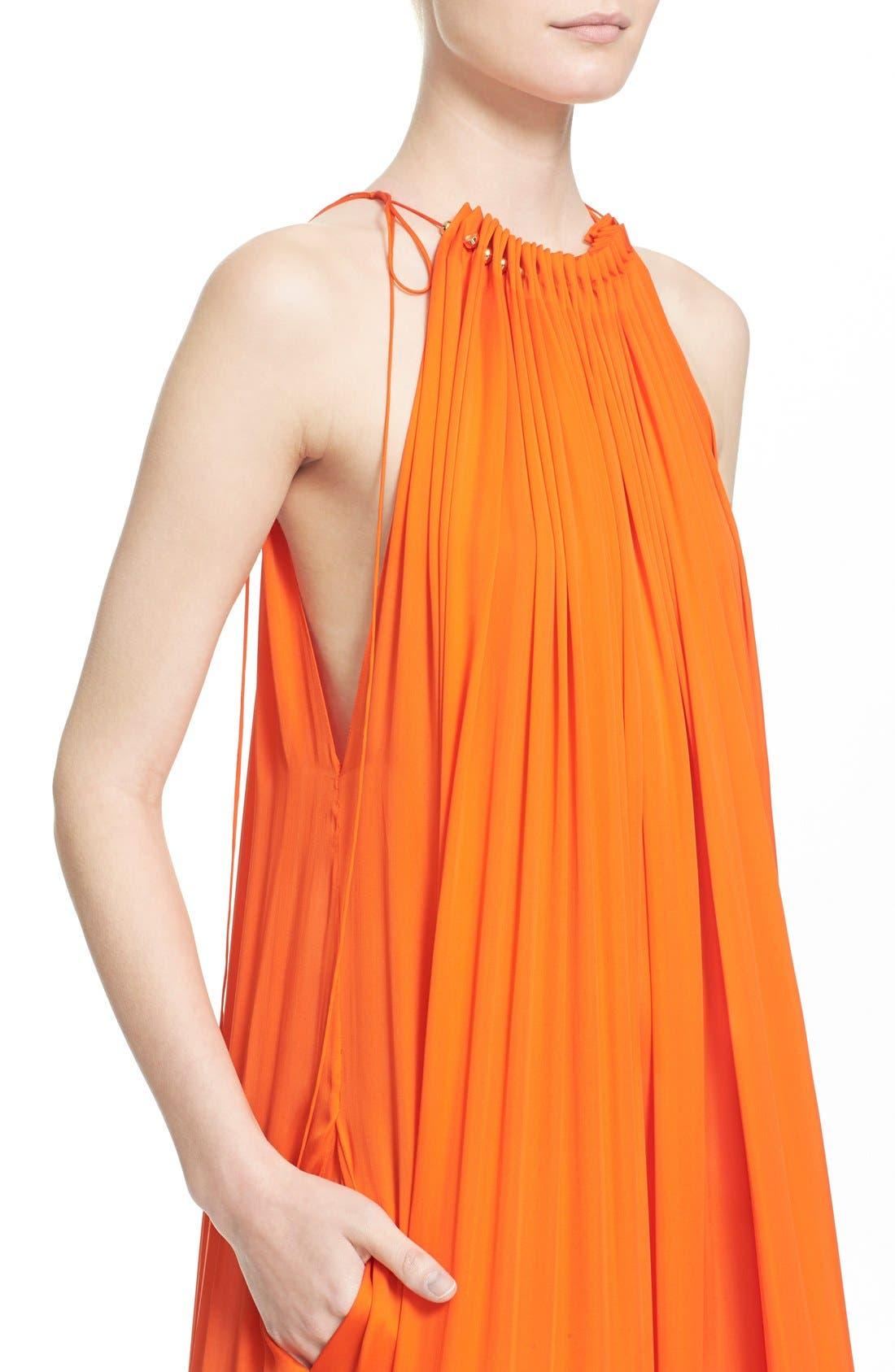 Alternate Image 6  - Stella McCartney High Neck Silk Parachute Gown