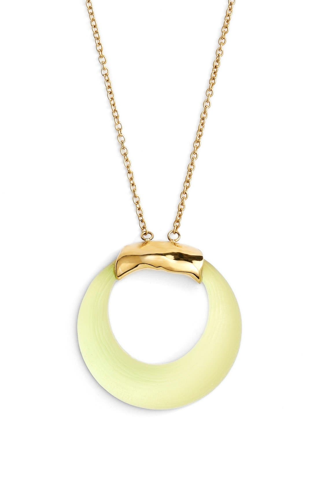 Alternate Image 1 Selected - Alexis Bittar 'Lucite®' Open Circle Pendant Necklace