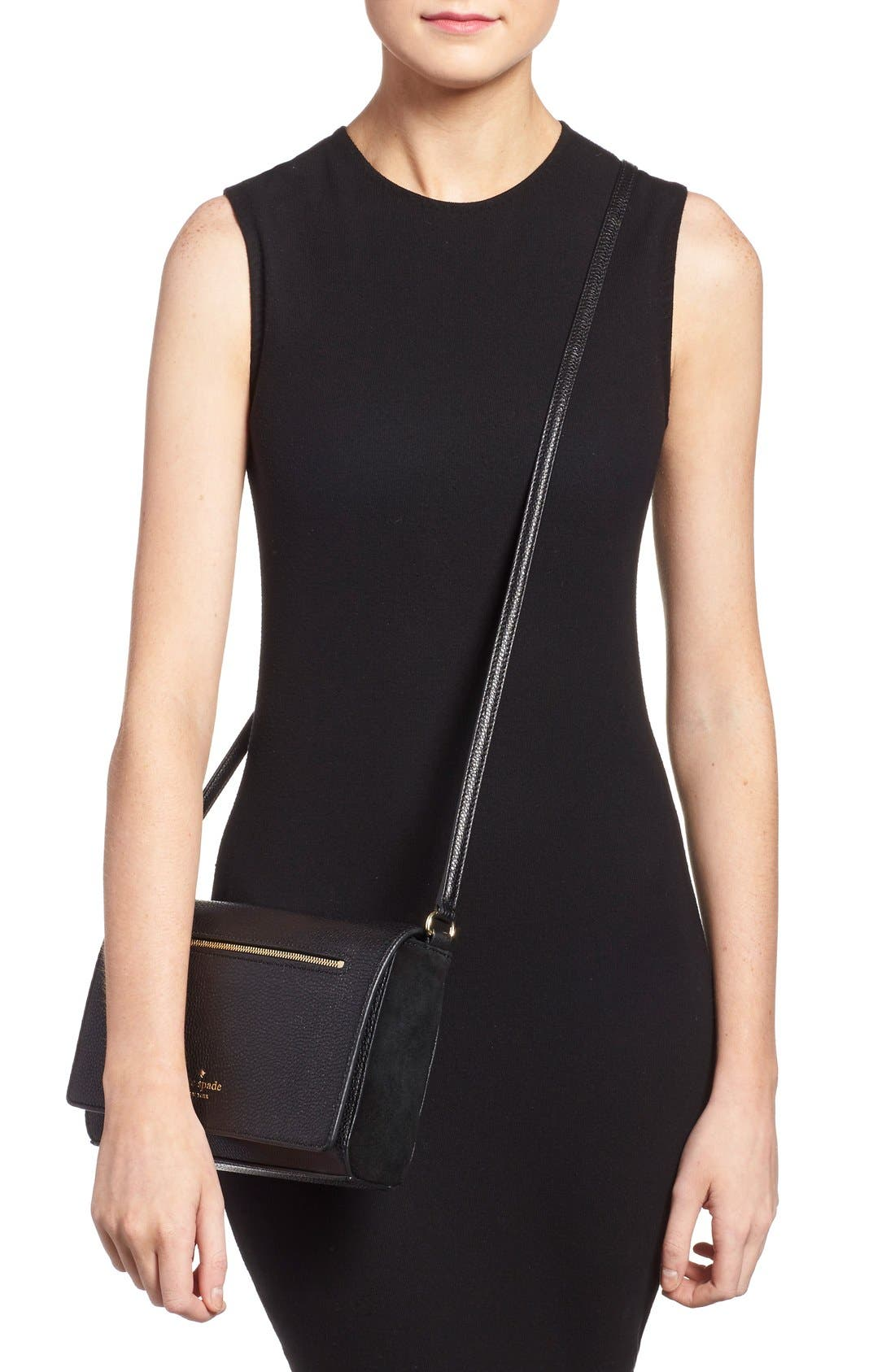 Alternate Image 2  - kate spade new york 'matthews drive - patty' leather & suede crossbody bag