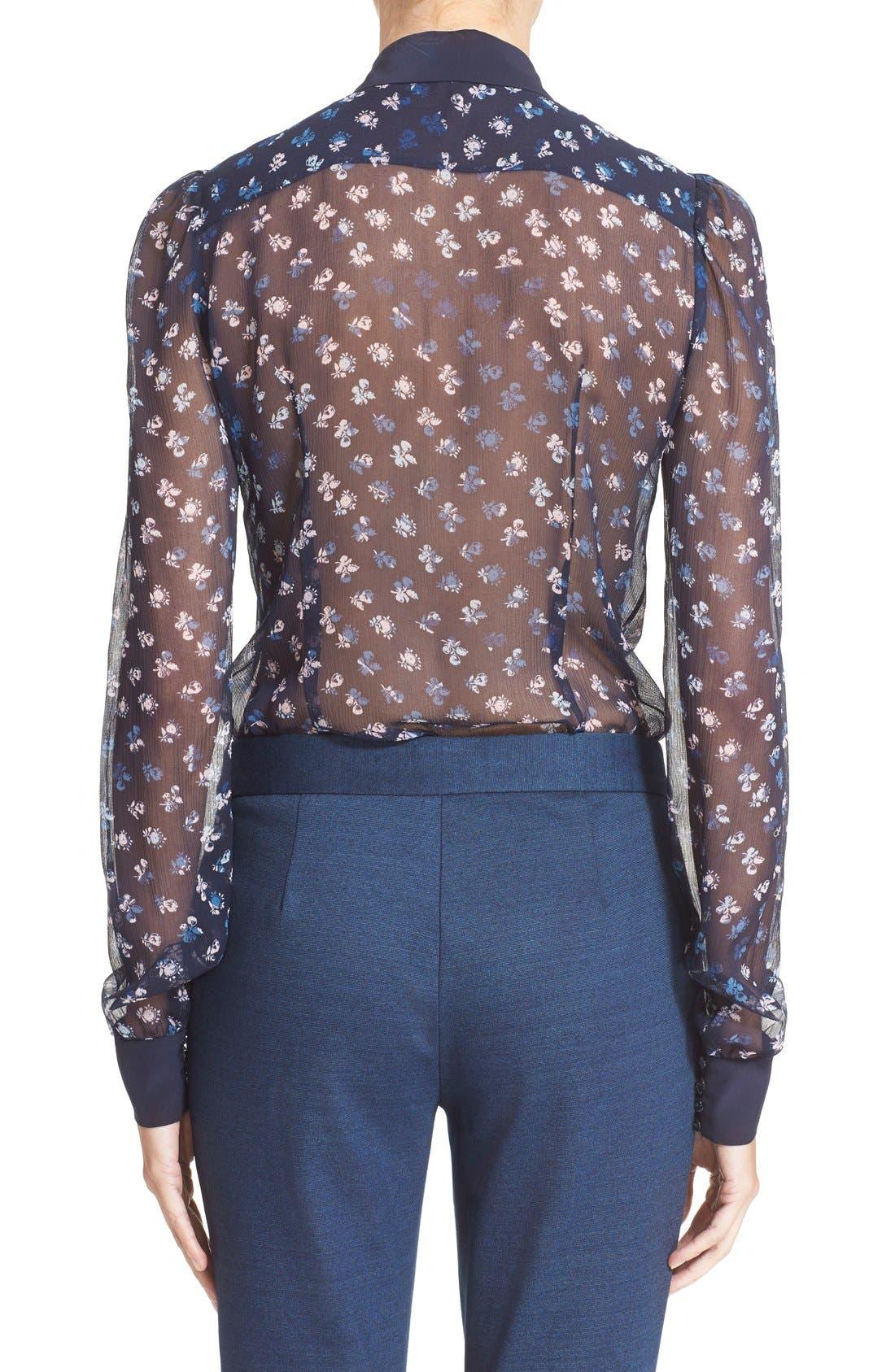 Alternate Image 2  - Diane von Furstenberg 'Mariah' Floral Print Silk Blouse