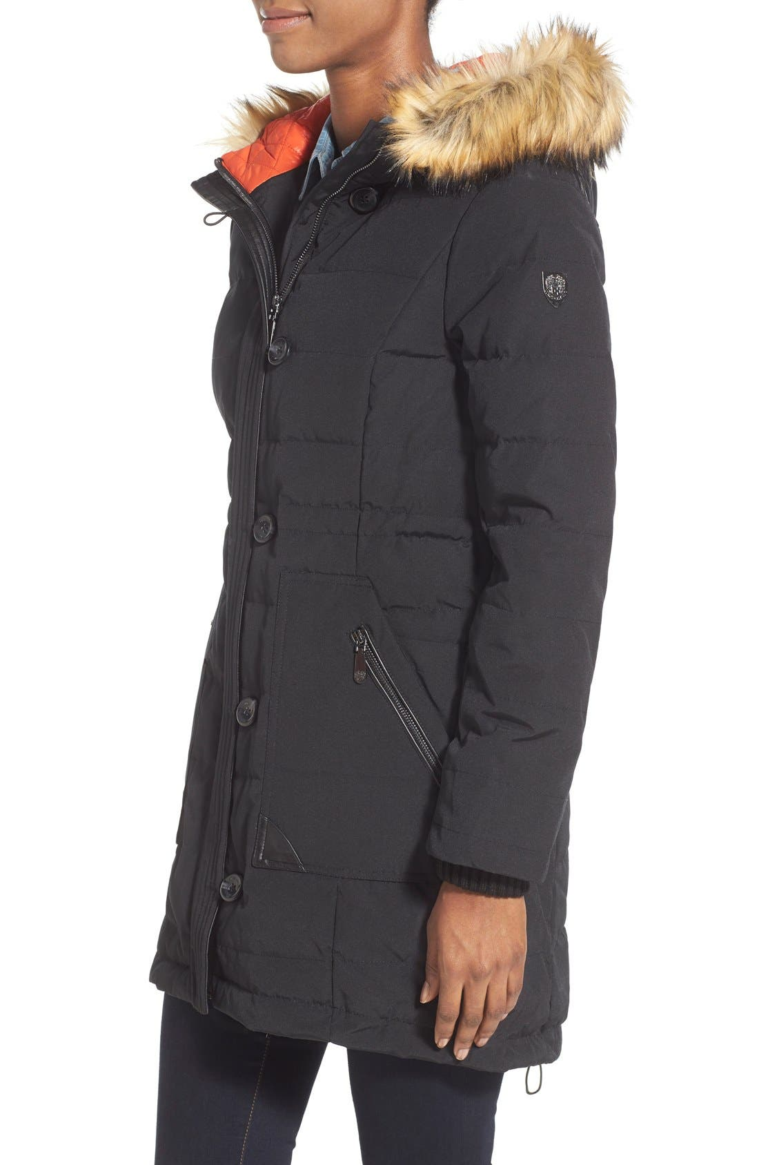 Alternate Image 4  - Vince Camuto Down & Feather Fill Parka with Faux Fur Trim