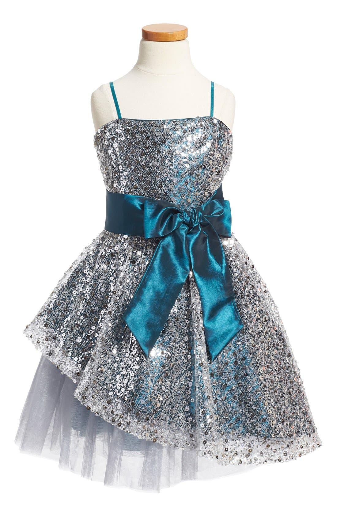 Main Image - Un Deux Trois Sequin Dress (Big Girls)