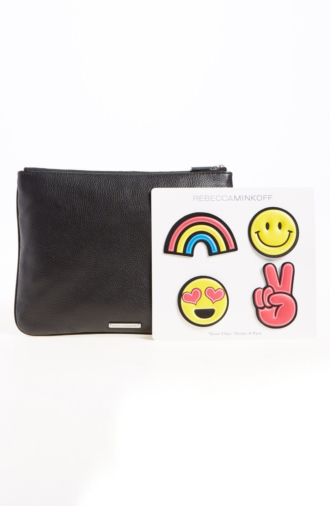 Alternate Image 2  - Rebecca Minkoff 'Good Vibes' Customizable Leather Pouch with Emoji Stickers
