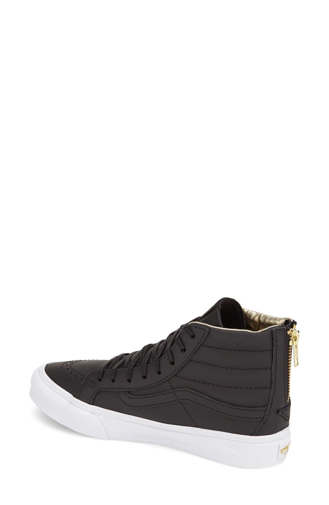 Alternate Image 2  - Vans 'Sk8-Hi Slim' Zip Sneaker (Women)