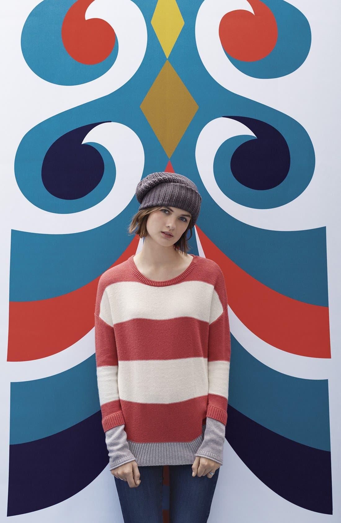Alternate Image 6  - Caslon® Contrast Cuff Crewneck Sweater (Regular & Petite)