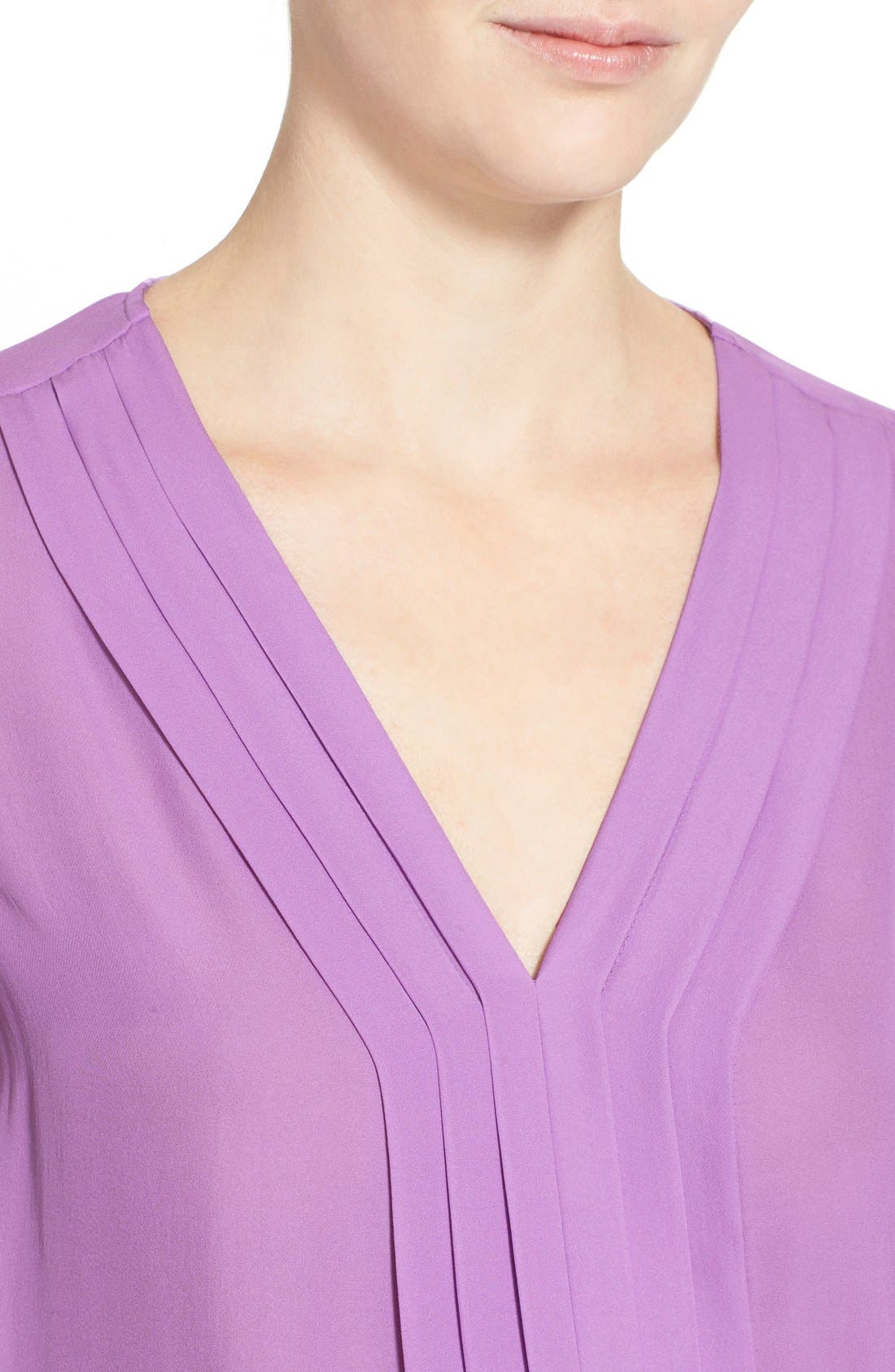 Alternate Image 4  - Joie 'Marcher' Pleated Silk Top