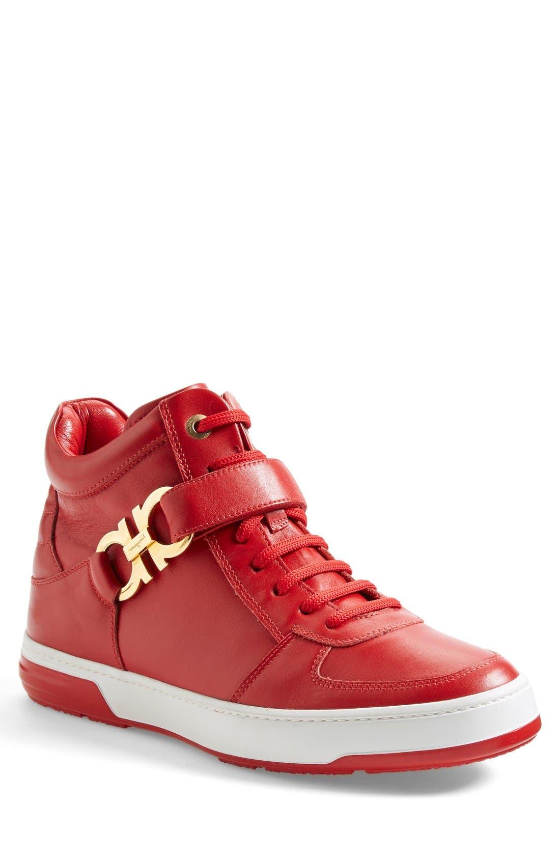 Alternate Image 1 Selected - Salvatore Ferragamo 'Nayon' High Top Sneaker (Men)