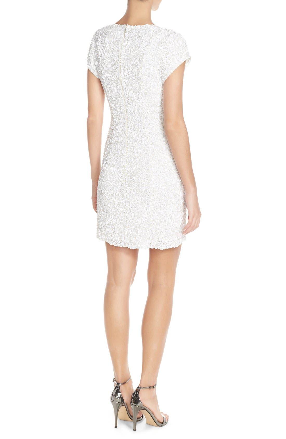 Alternate Image 2  - Parker Black 'Serena' Sequin Silk Body-Con Dress