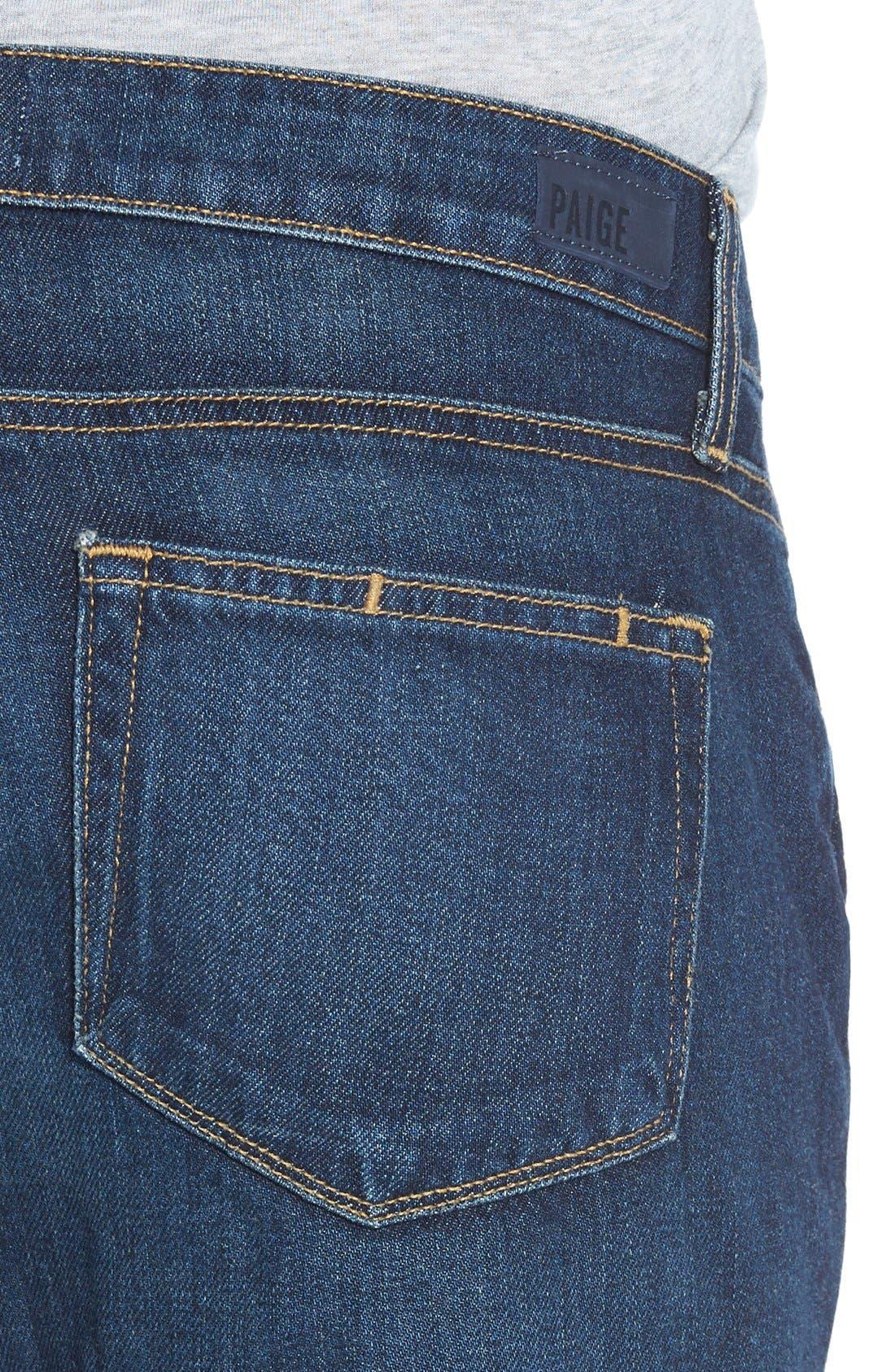 Alternate Image 4  - Paige Denim 'Porter' Boyfriend Jeans (Talley Destructed)