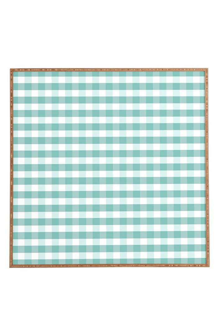 Deny designs 39 icy gingham 39 framed wall art nordstrom for Deny designs free shipping code