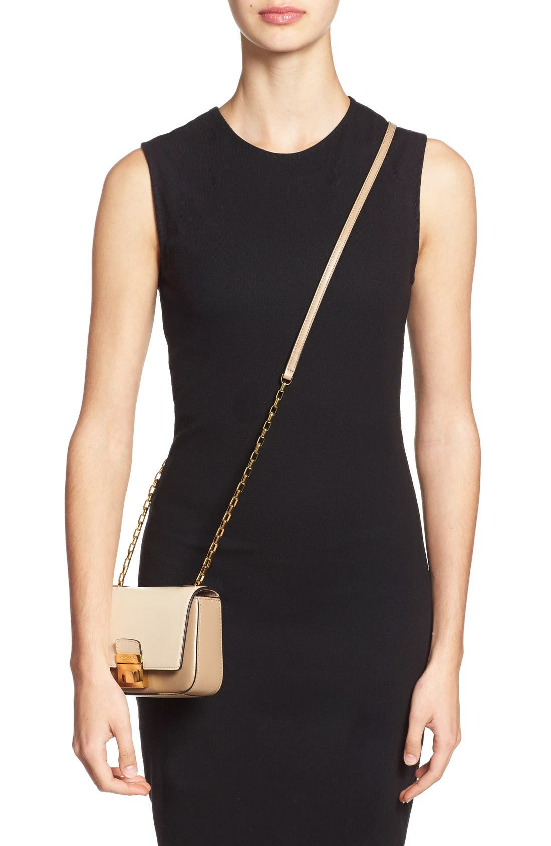 Alternate Image 2  - Michael Kors 'Small Gia' Chain Strap Leather Shoulder Bag