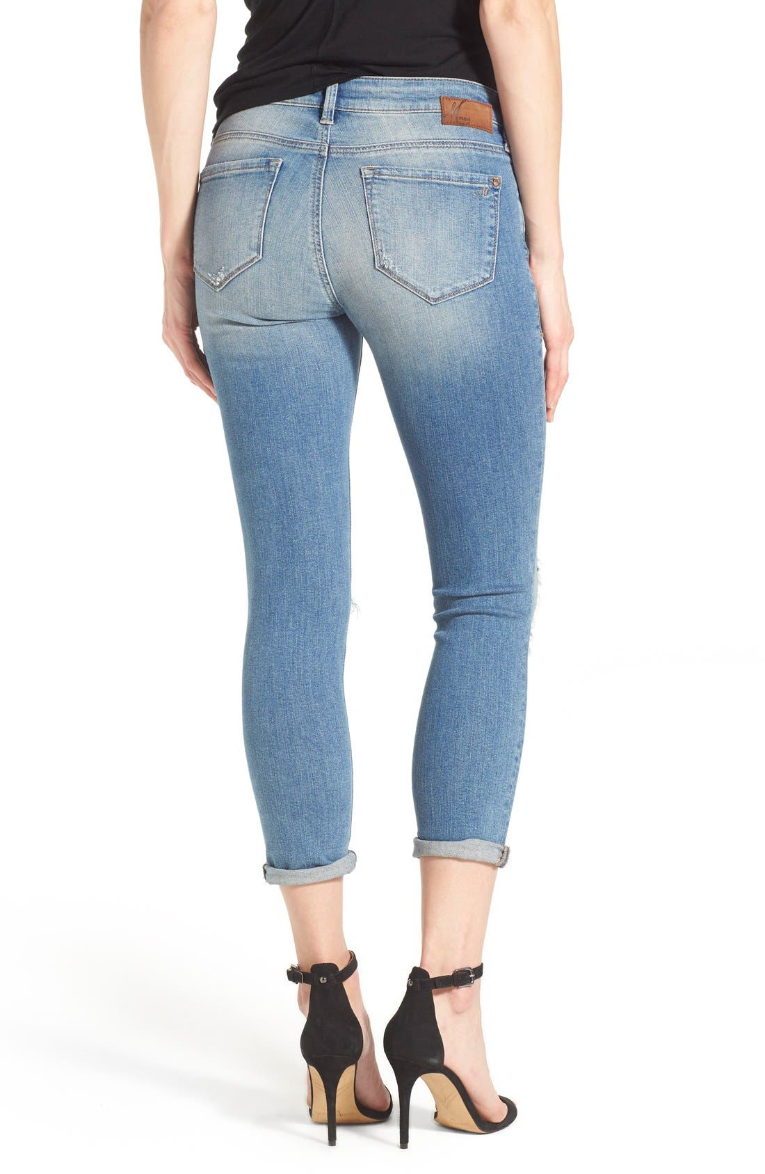 Alternate Image 2  - Mavi Jeans 'Ada' Destroyed Stretch Boyfriend Jeans (Ripped Vintage)