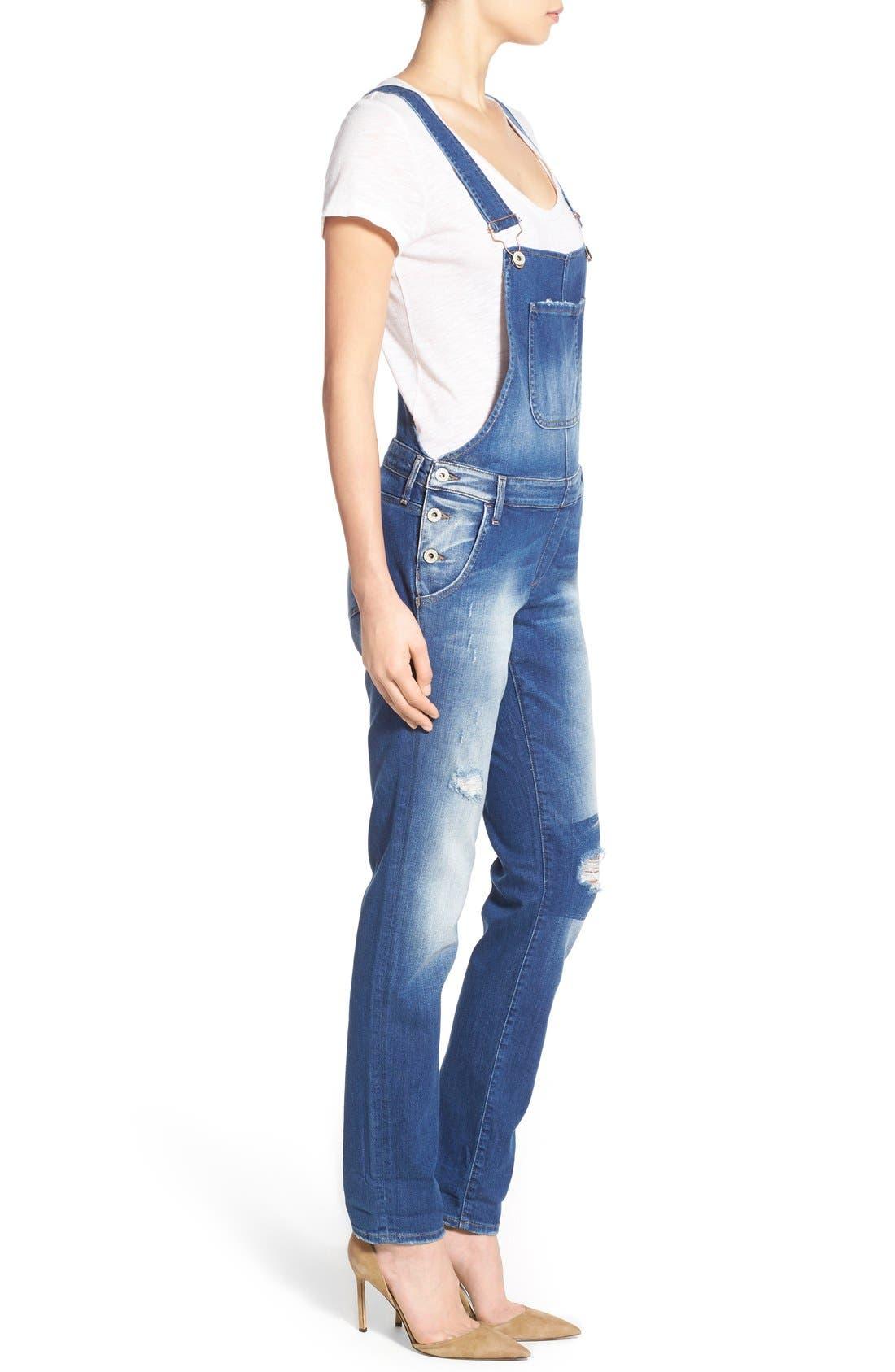 Alternate Image 3  - Mavi Jeans 'Edera' Ripped Overalls (Patch Ripped)