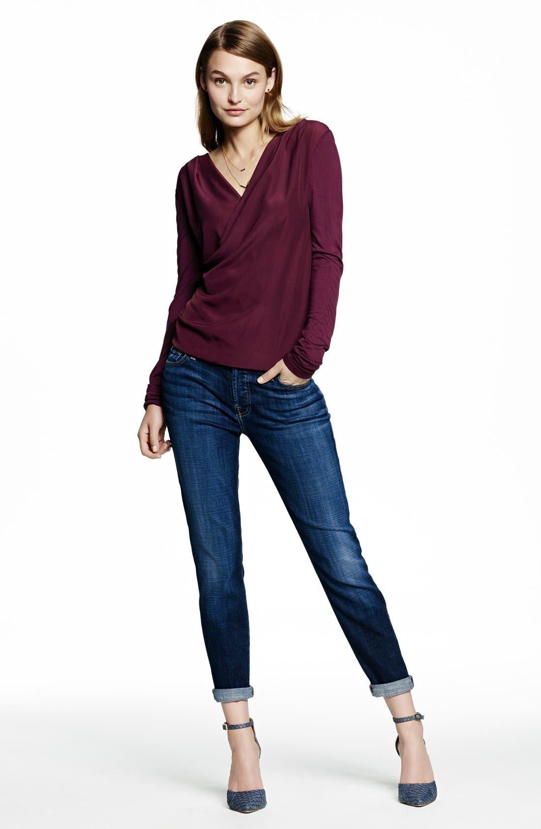 Alternate Image 4  - 7 For All Mankind® 'Josefina' Boyfriend Jeans (Royal Broken Twill)