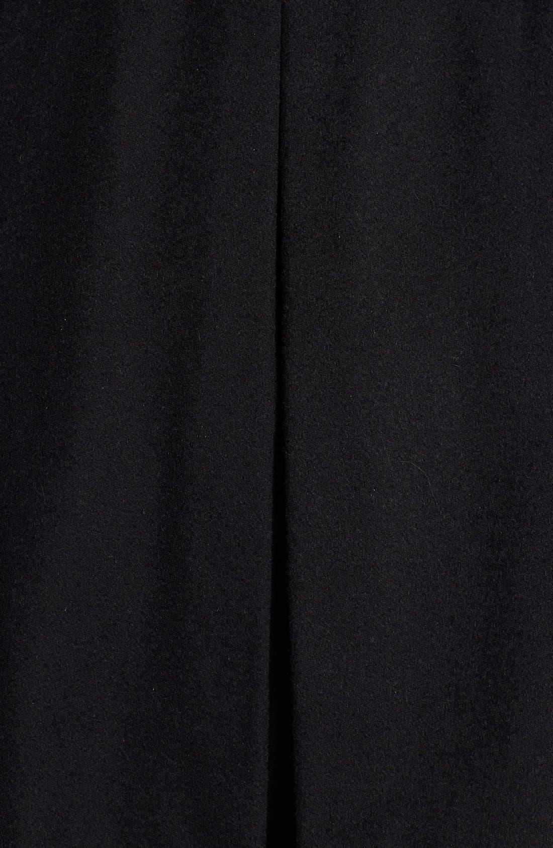 Alternate Image 5  - Betsey Johnson Faux Fur Collar Skirted Wool Blend Coat