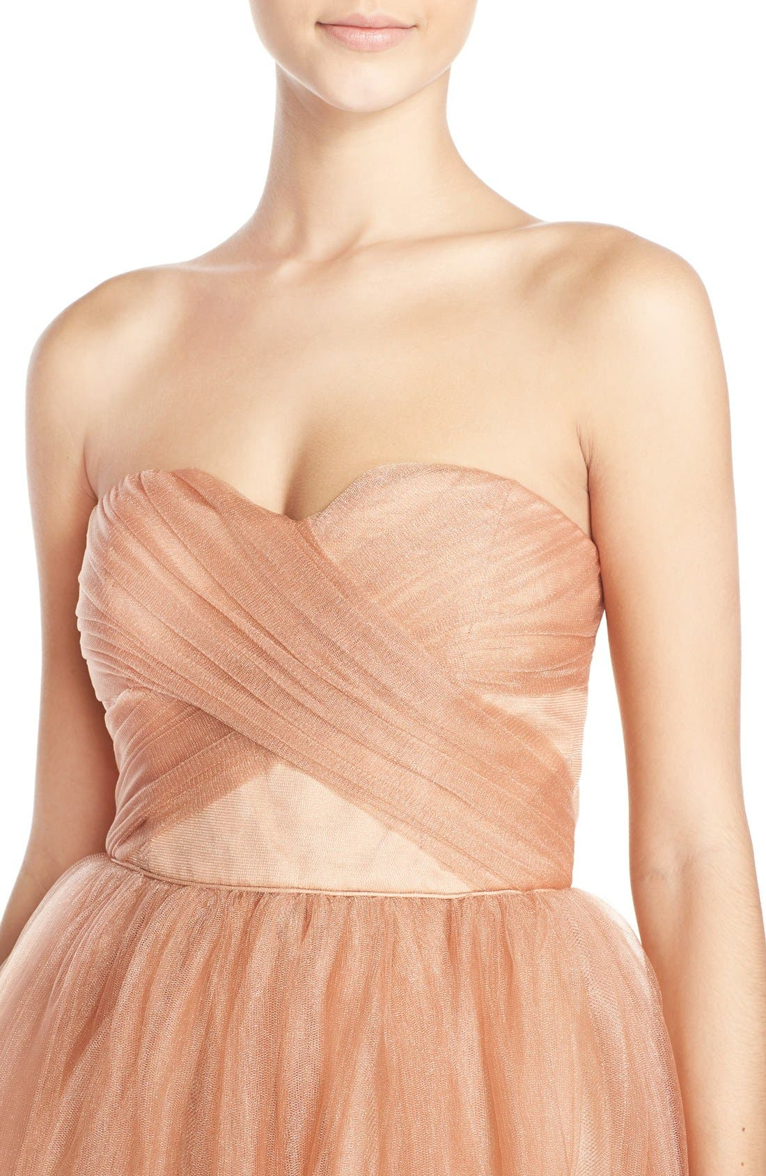 Alternate Image 4  - Donna Morgan 'Kenna' Strapless Tulle Fit & Flare Dress