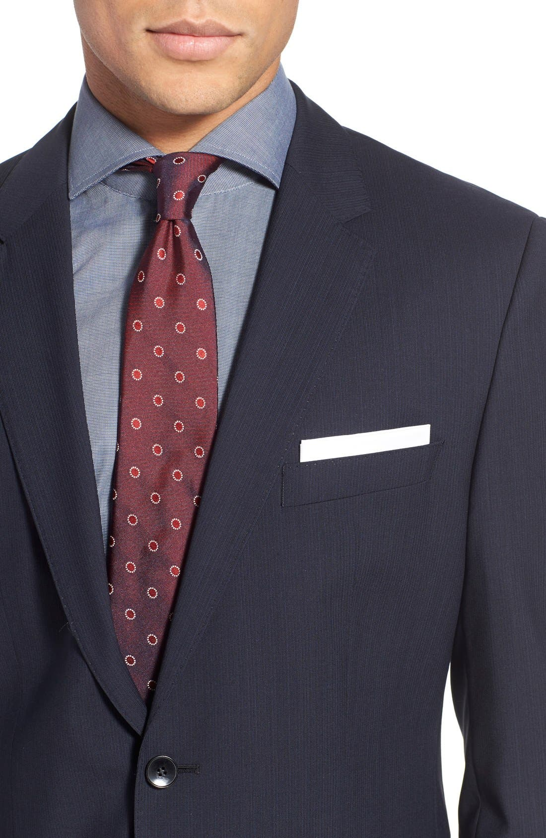 Alternate Image 4  - BOSS 'James/Sharp' Trim Fit Stripe Wool Suit