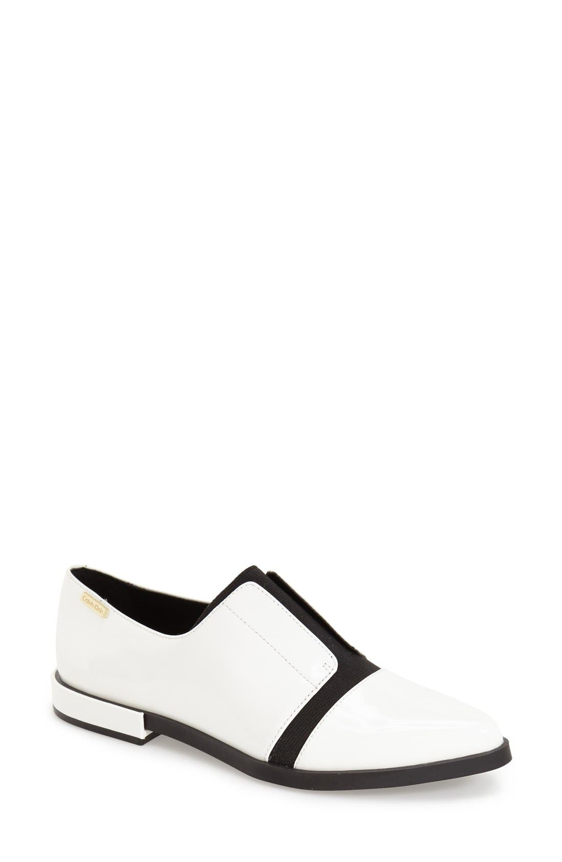 Main Image - Calvin Klein 'Pamelle' Pointy Toe Oxford (Women)