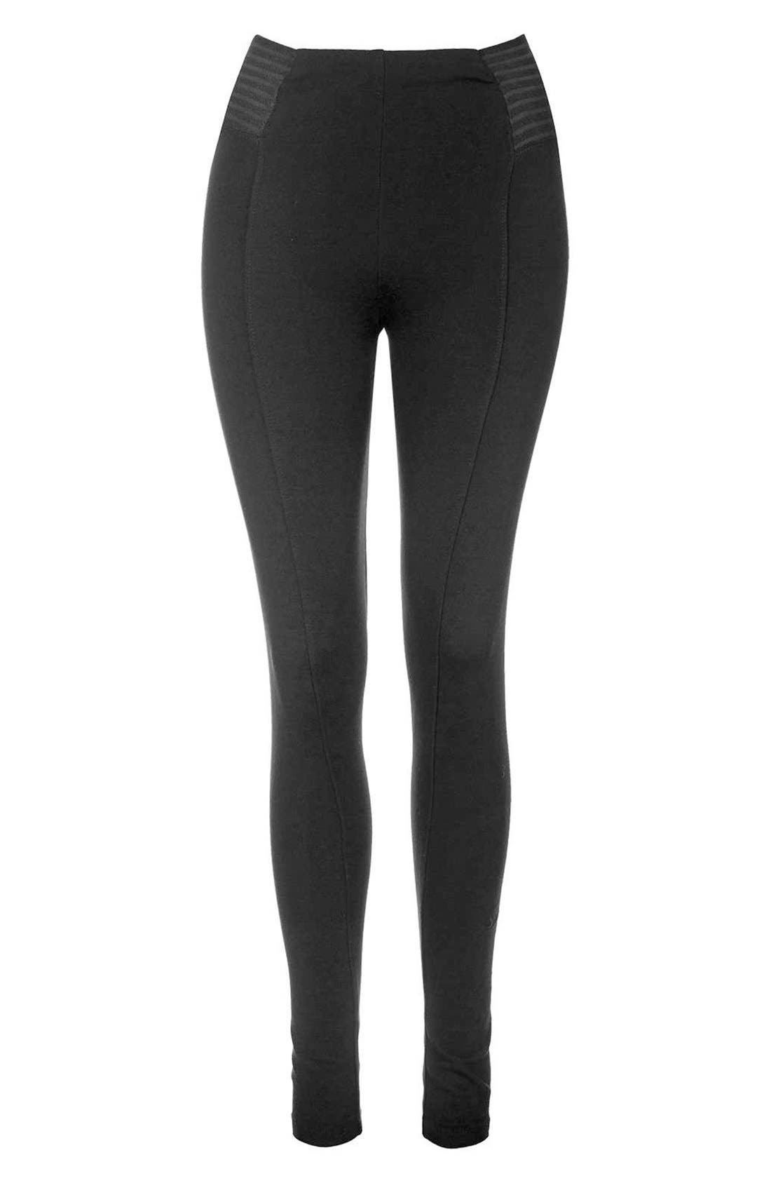 Alternate Image 4  - Topshop Elastic Stripe Leggings