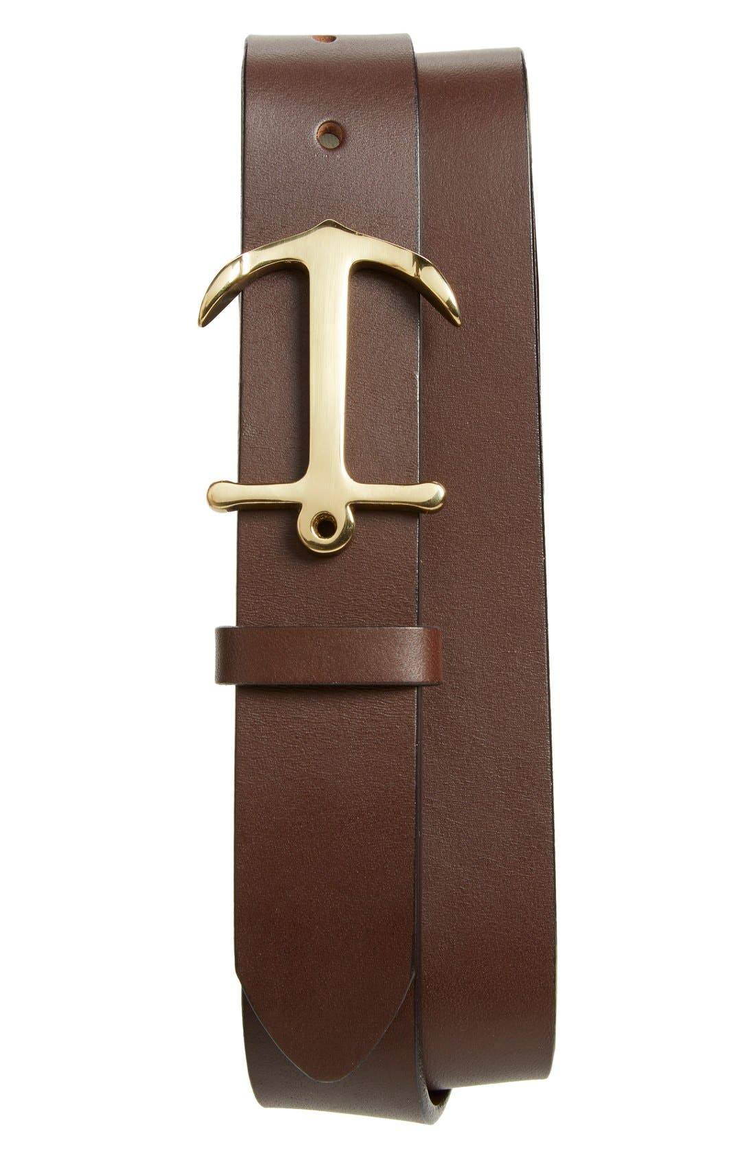 Vineyard Vines Anchor Leather Belt