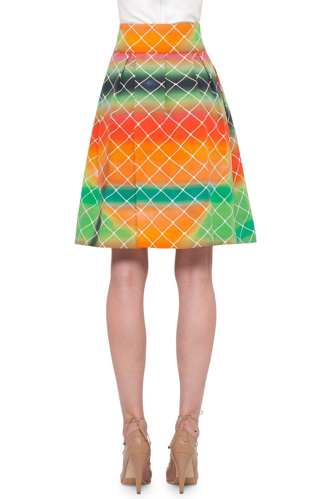 Alternate Image 1 Selected - Akris punto 'Baseball Net' Flared Skirt