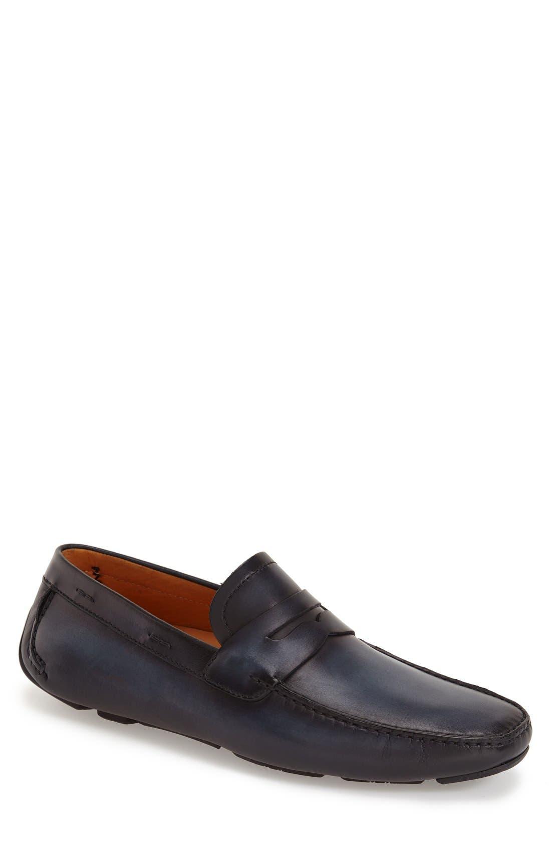Magnanni 'Dylan' Leather Driving Shoe (Men)