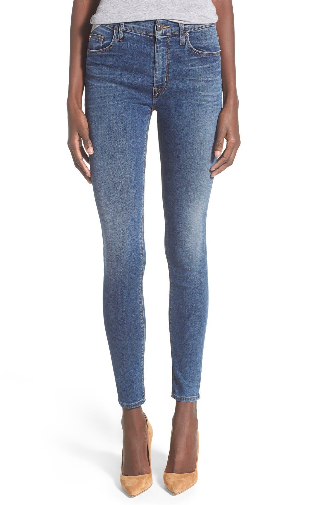 Main Image - Hudson Jeans 'Barbara' High Rise Skinny Jeans