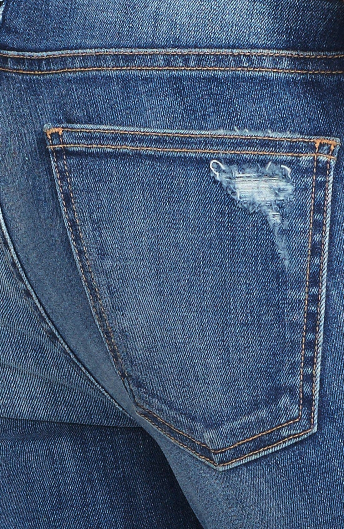 Alternate Image 3  - Current/Elliott 'The Stiletto' Destroyed Skinny Jeans (Niagara Destroy) (Nordstrom Exclusive)
