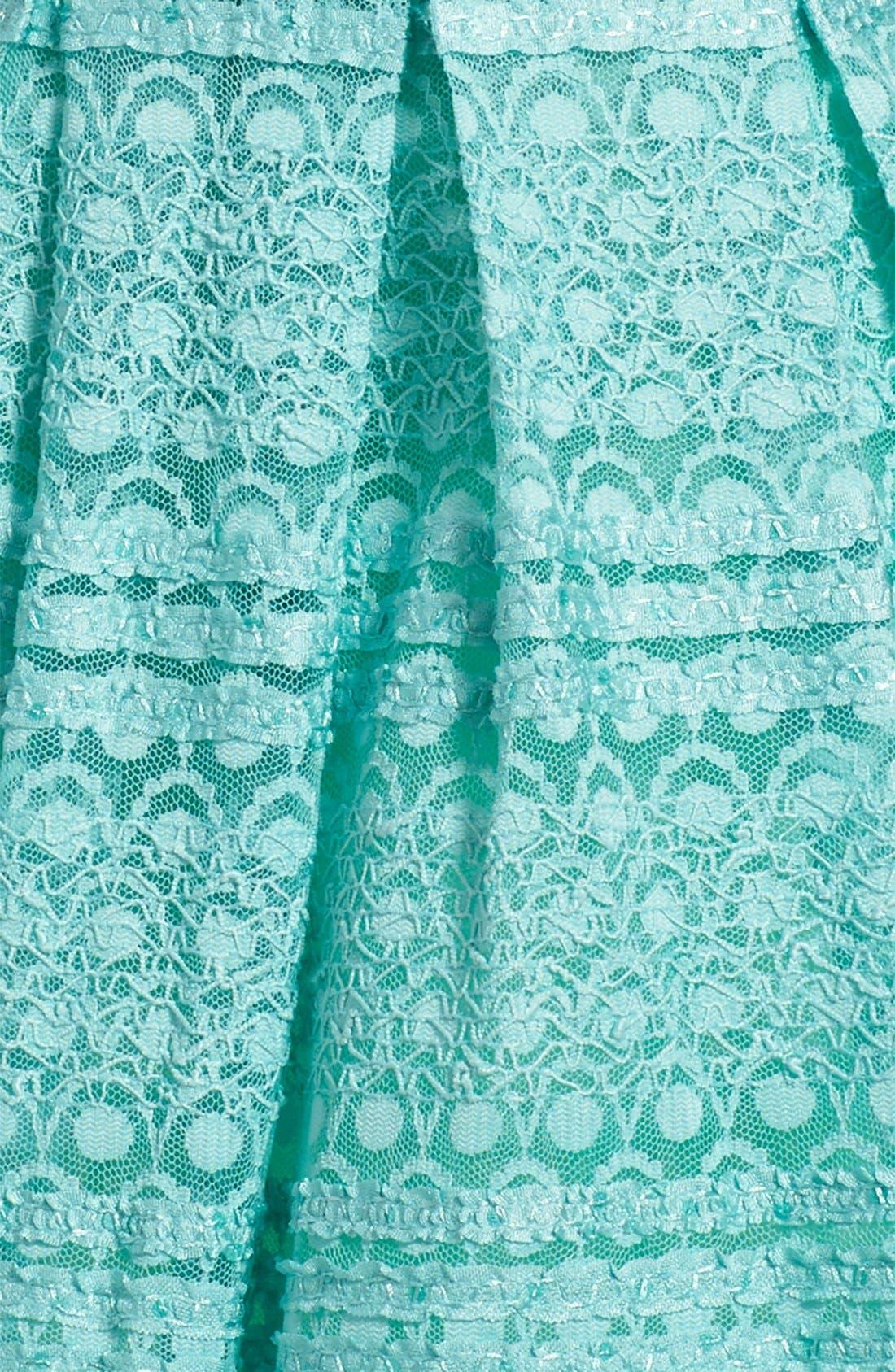 Alternate Image 3  - Soprano Lace Skater Dress (Big Girls)