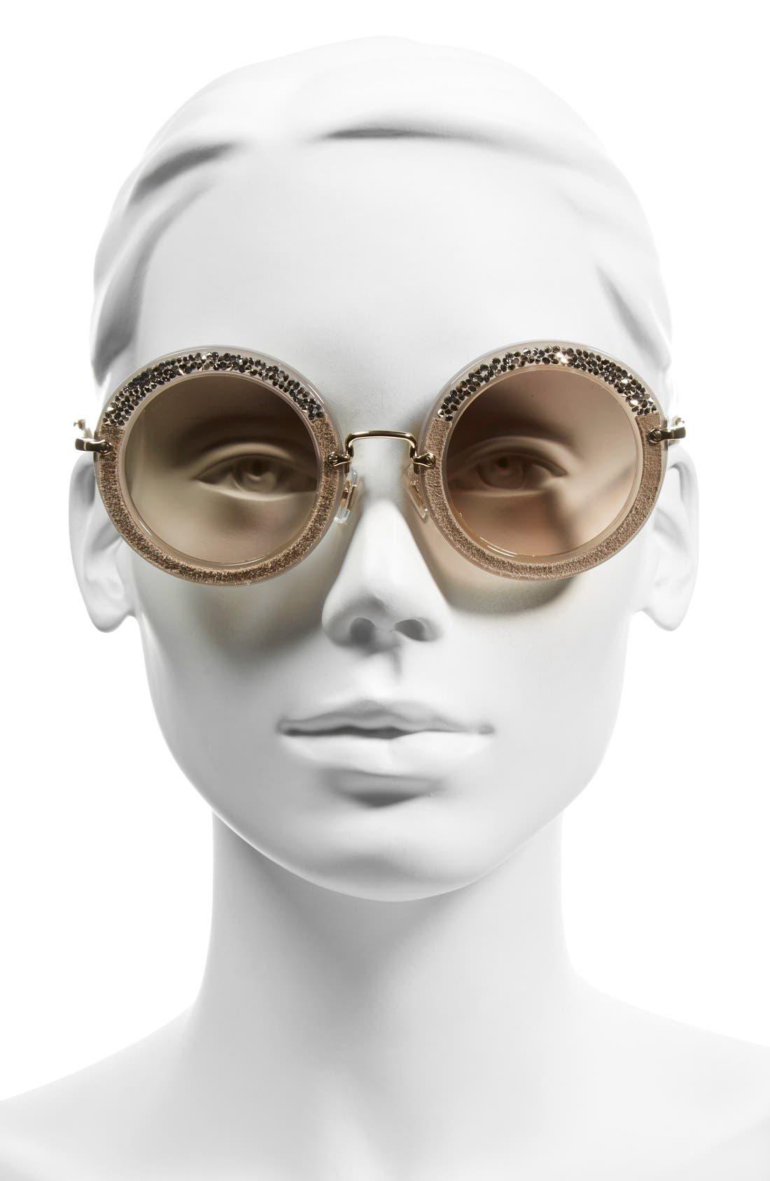 Alternate Image 2  - Miu Miu 49mm Round Sunglasses