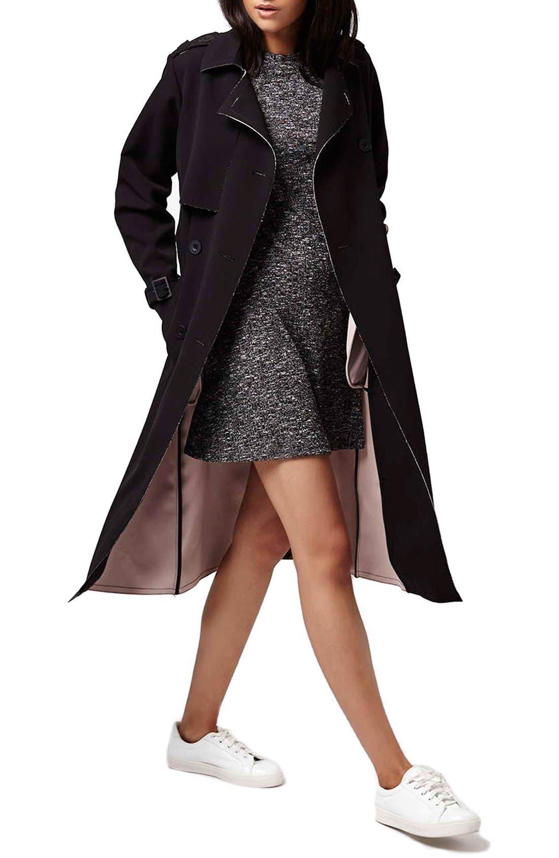 Alternate Image 2  - Topshop Ribbed Long Sleeve Tunic Dress