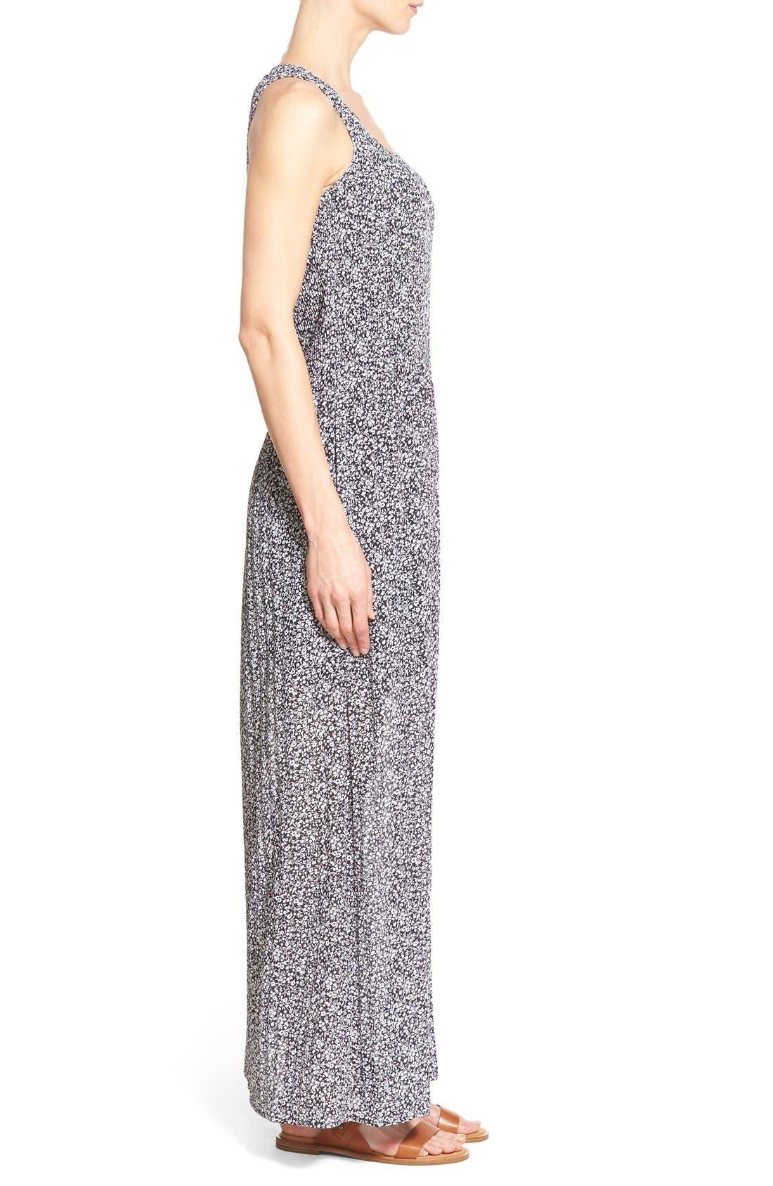 Alternate Image 3  - MICHAEL Michael Kors 'Liona' Print Pintuck A-Line Maxi Dress