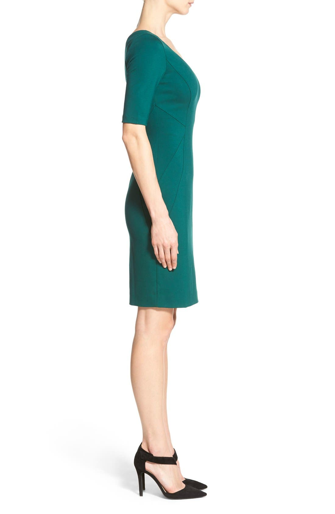 Alternate Image 3  - Halogen® Ponte Dress (Regular & Petite)