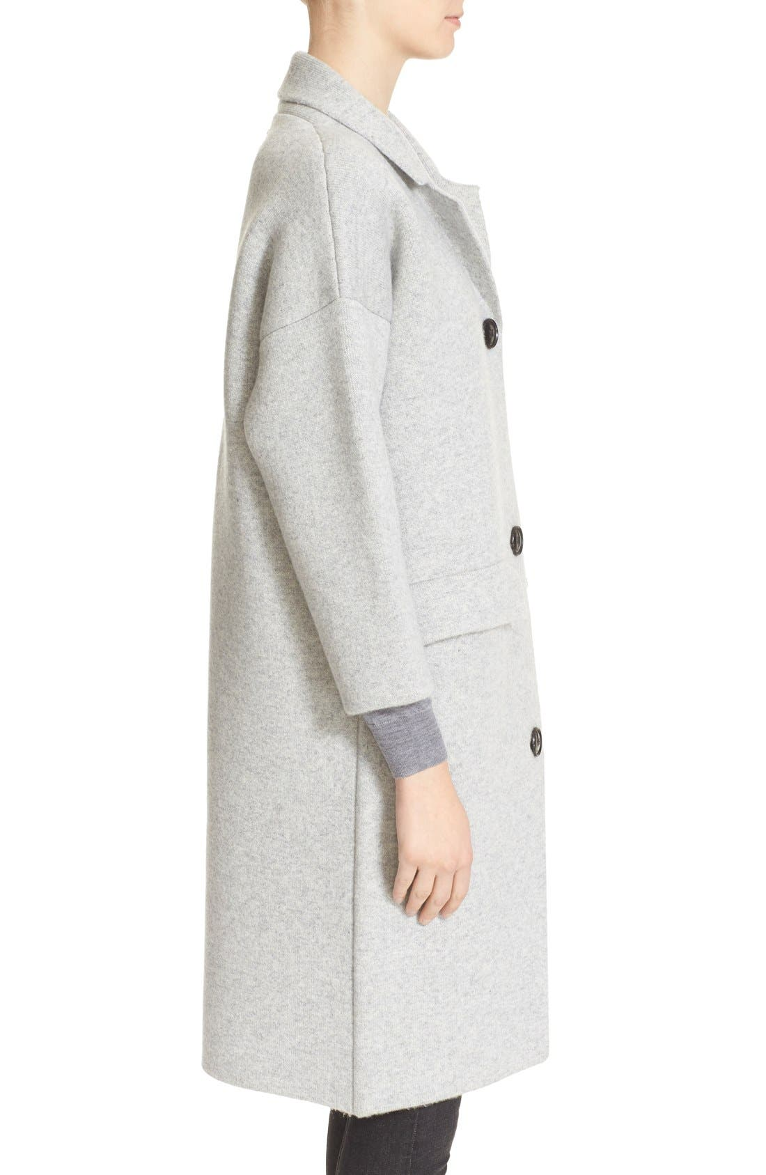 Alternate Image 5  - Burberry Brit Wool & Cashmere Knit Long Coat