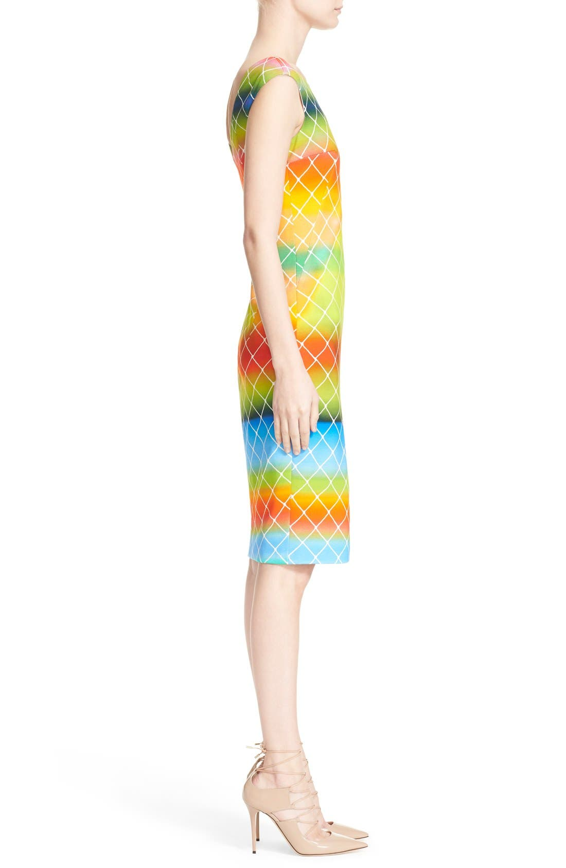 Alternate Image 4  - Akris punto 'Baseball Net' Dress