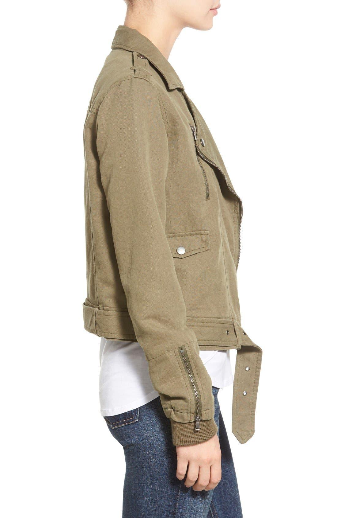 Alternate Image 4  - Paige Denim 'Marjorie' Twill Moto Jacket