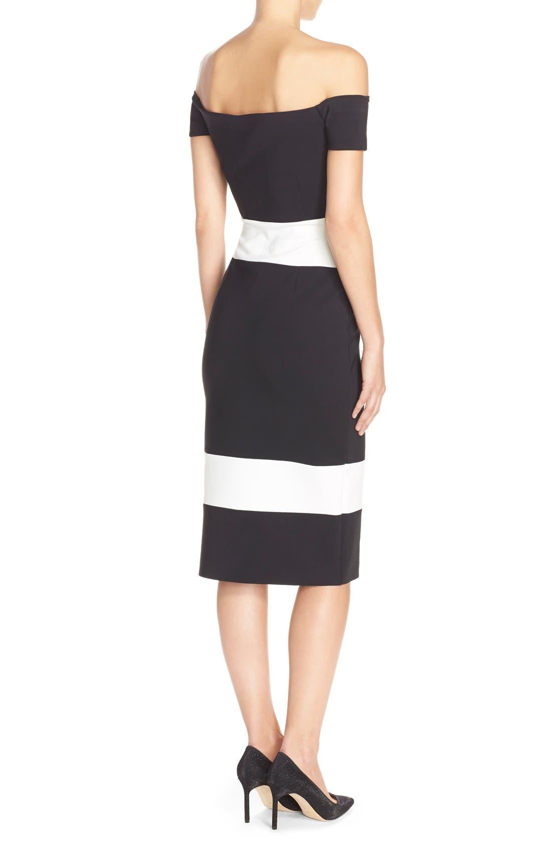Alternate Image 2  - Chiara Boni La Petite Robe 'Bebel' Stripe Jersey Sheath Dress