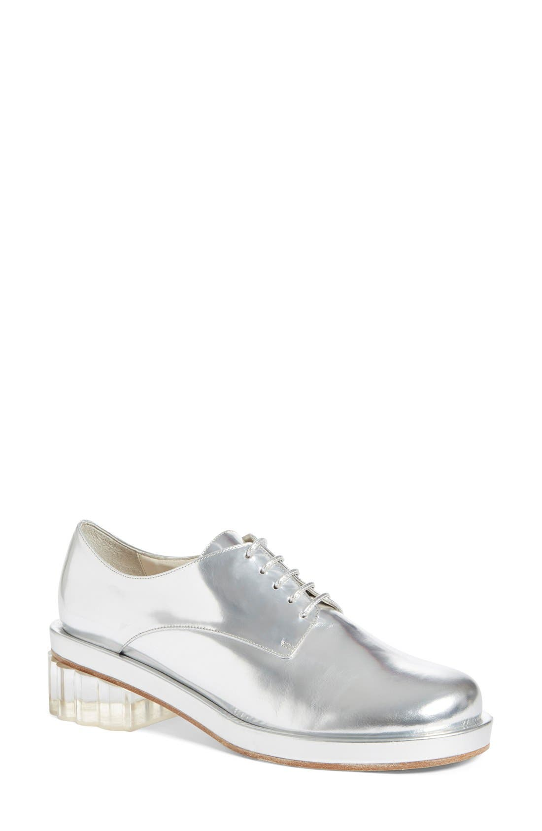Alternate Image 1 Selected - Simone Rocha Metallic Lace-Up Oxford (Women)